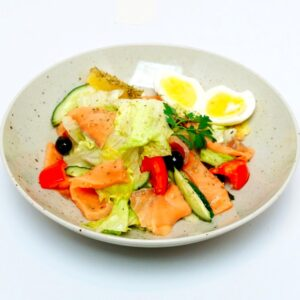 Салат из семги с итальянской заправкой